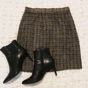 NEW BB Dakota Vina Tweed Metallic Skirt